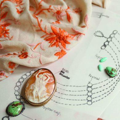 Jill Garber Peach Necklace