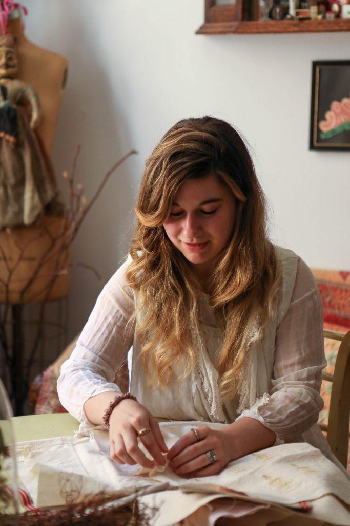 Emma Mierop at Table