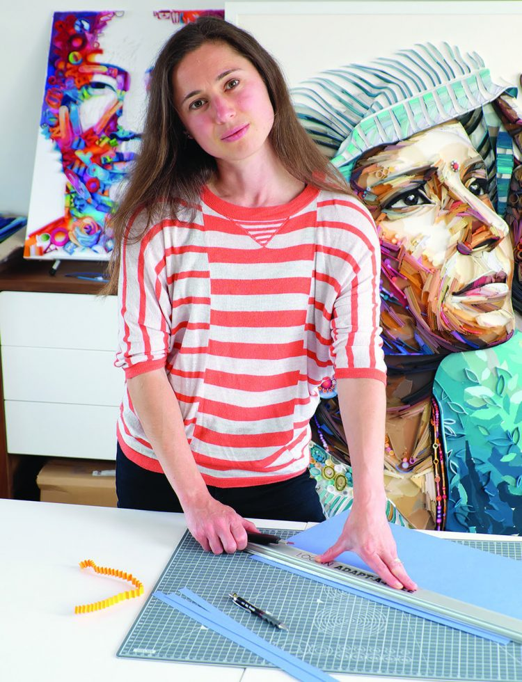Yulia Brodskaya at her desk