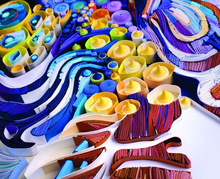 Close up of a Yulia Brodskaya piece