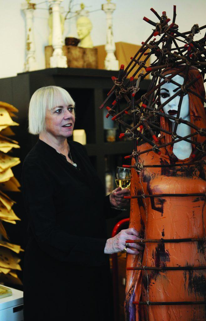 Judith Kindler with Art