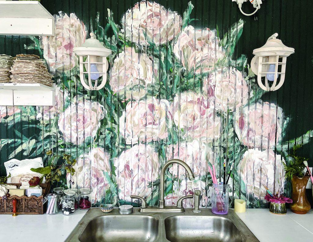 Leanna Garcia Floral Backsplash