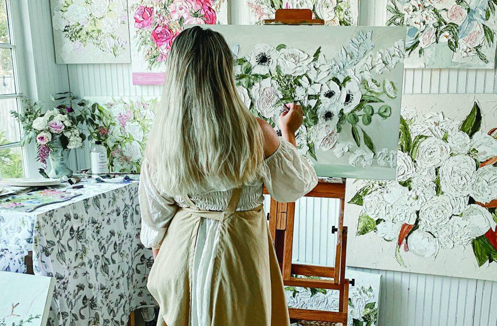 Leanna Garcia Painting Flowers