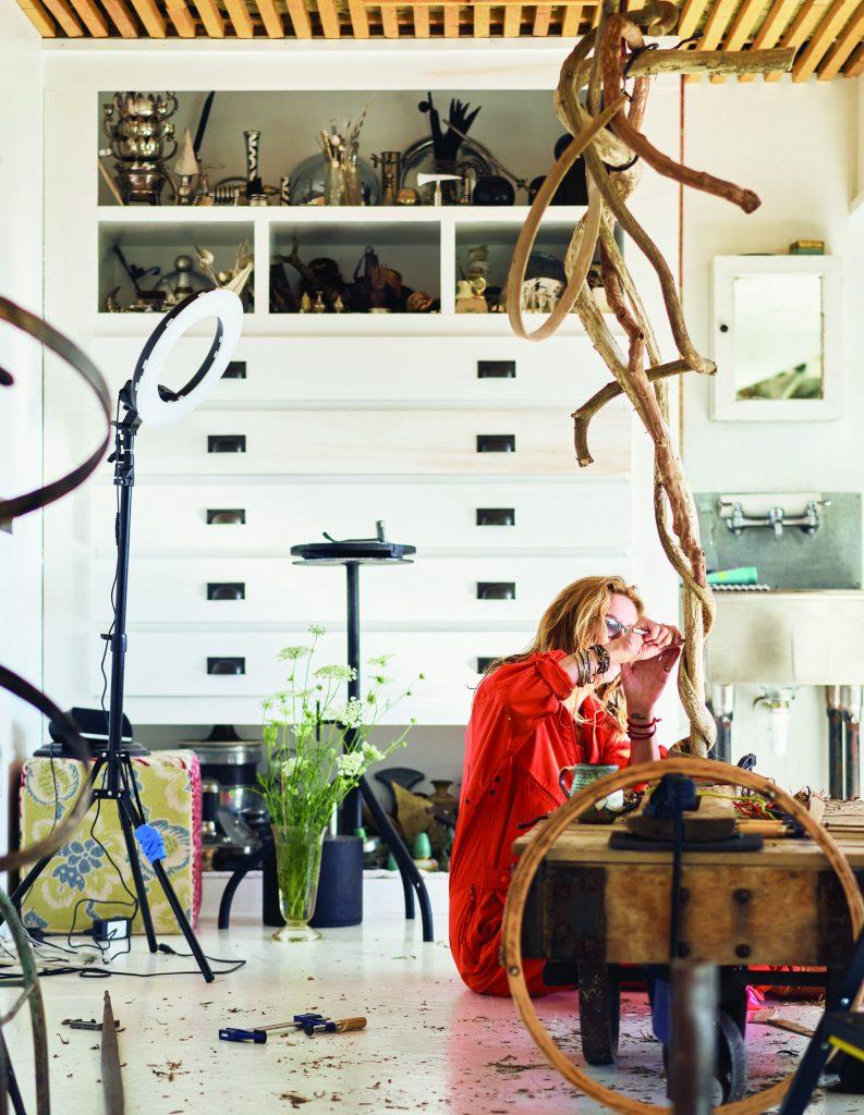 Susan Pullman Brooks in Studio