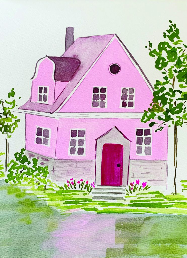 Tessie Fay Snow Pink House